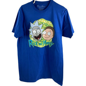 Rick and Morty Graphic Print T-Shirt Tee Shirt M